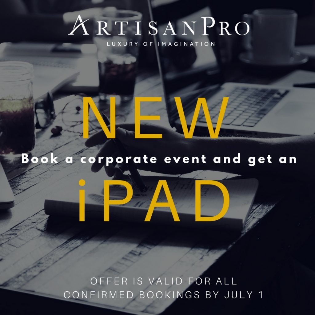 ArtisanPro Corporate Event iPad offer
